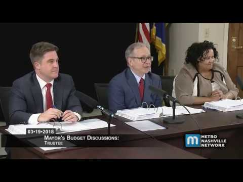 03/19/18 Mayor's Budget Discussions: Trustee