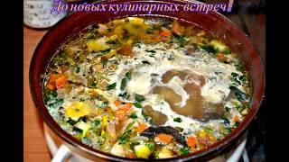 Рецепт: Суп грибной оригинальный с рыбой.
