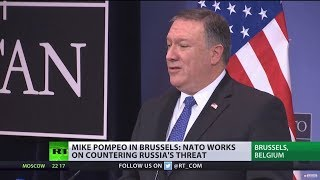 'Ensure NATO has no business with Russia': Pompeo visits NATO HQ hours after being sworn in