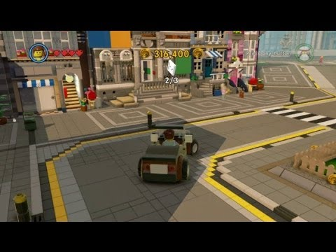 The LEGO Movie Videogame Walkthrough Part 7 - Bricksburg Hub Free ...