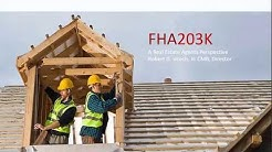 FHA 203k Renovation Mortgages