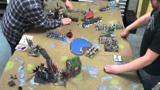 WHFB (84) - 3000 Vampire vrs Dark Elves, Blood and Glory, Full game!