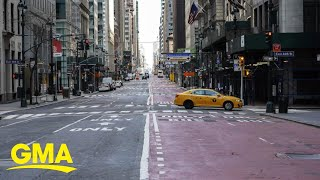Streets of NYC are empty after Gov. Cuomo issued stay-at-home mandate for residents | GMA