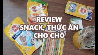 REVIEW Pedigree: thức ăn, patê, snack, deฑta stix của và Thuốc xổ giun Bio!!!