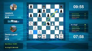 Chess Game Analysis: David Lipold - rezatork : 1-0 (By ChessFriends.com)