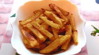 Картофель фри без масла в духовке!
