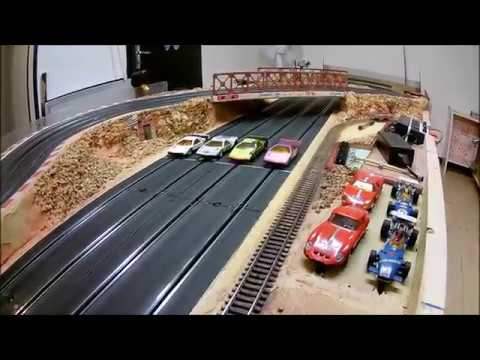 ZE RING SLOT CAR vintage CIRCUIT ROUTIER JOUEF 4 PISTES