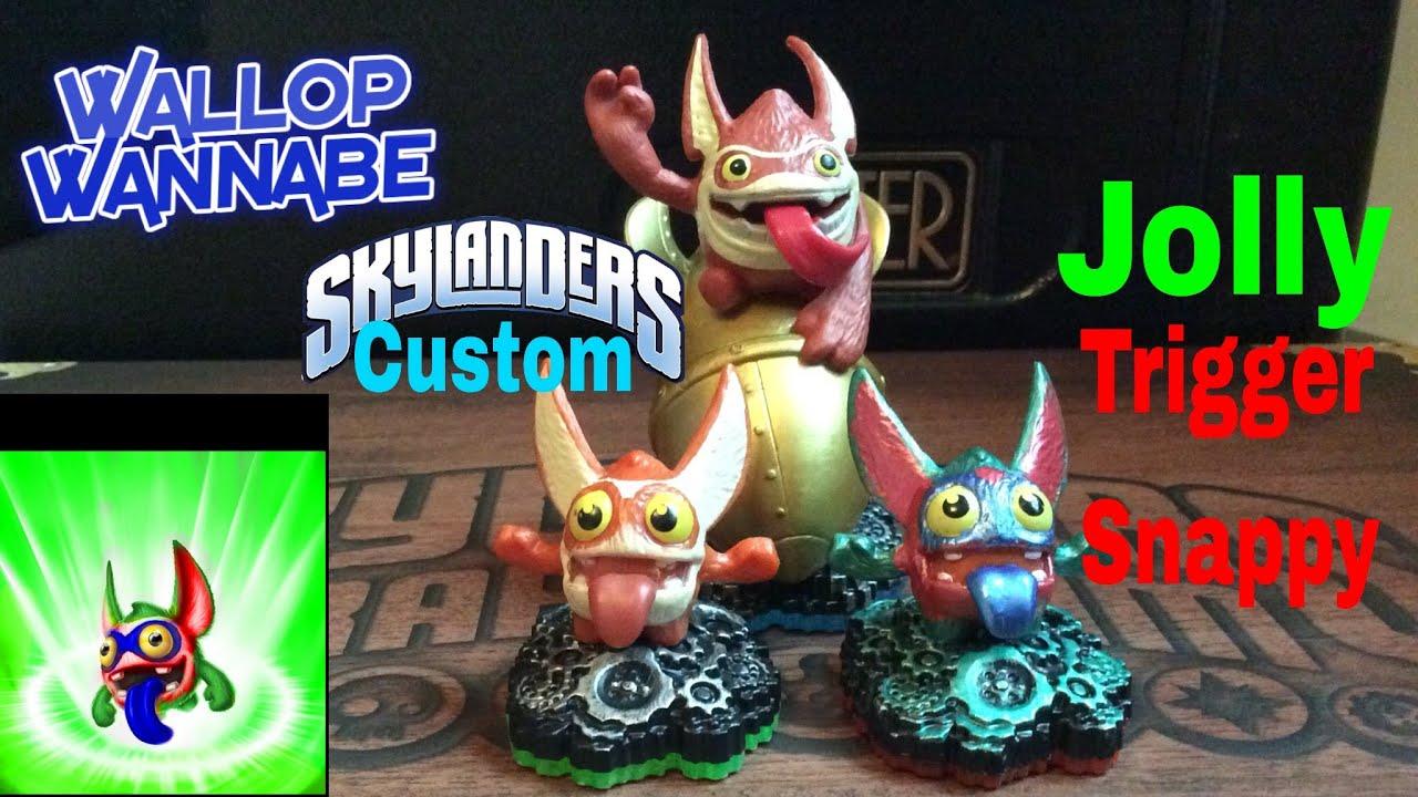 Skylanders Christmas Custom - Jolly Trigger Snappy - YouTube