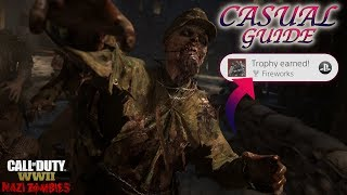 """WWII ZOMBIES - """"THE FINAL REICH"""" CASUAL EASTER EGG GUIDE! *FIREWORKS* TROPHY UNLOCKED!"""