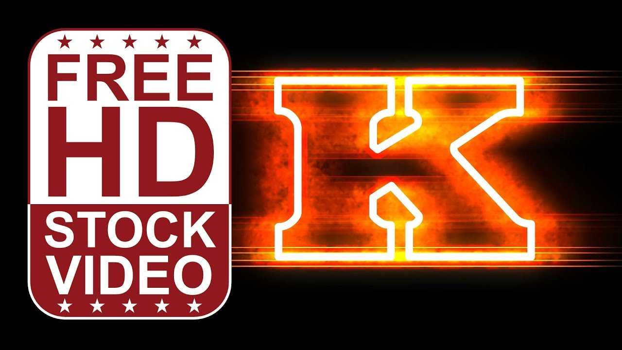 Free hd video backgrounds animated letter k with fire and glow free hd video backgrounds animated letter k with fire and glow effect seamless loop 2d animation thecheapjerseys Images
