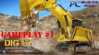 Dig it! A Digger Simulator Gameplay #1 Excavator XS