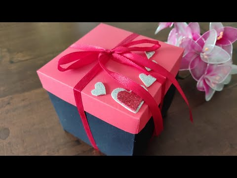 Easy DIY   Personalized Gift Box   How to make Explosion Box   Paper Craft Ideas
