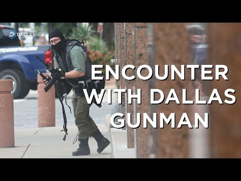 Dallas photojournalist recounts capturing photo of gunman during yesterday's shooting