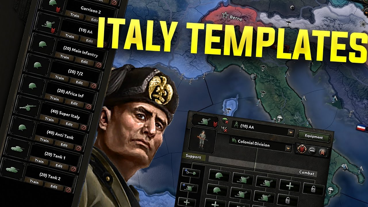 HOI4 Italy Template Guide (Hearts of iron 4 Italy templates Tutorial)