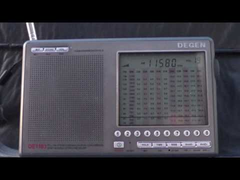 Radio Slovakia on Degen DE1103 Shortwave receiver 11580 Khz