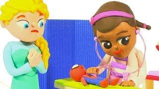 FUNNY KIDS VISIT THE TOY DOCTOR ❤ Play Doh Cartoons For Kids