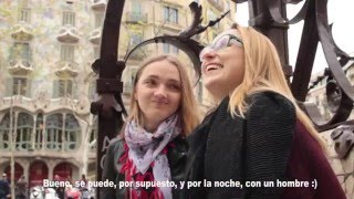 DISFRUTA #5: Режиссер порно пробует русскую еду/ Фестиваль света в Барселоне LLUM BCN (sub esp)