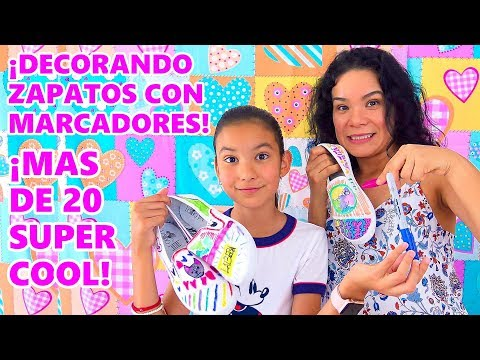 COLOREANDO ZAPATOS CHALLENGE | AnaNana Toys