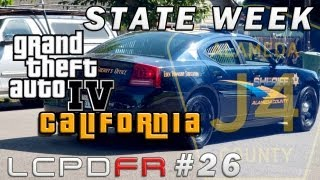 "GTA IV LCPDFR MP #26 - State Week California ""Alameda County Sheriff"""