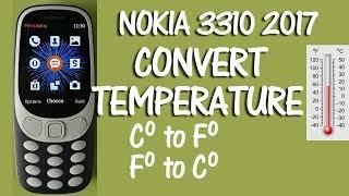 Nokia 3310 2017 How to Convert Temperature Fahrenheit Celsius