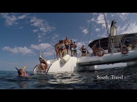 Cayo Santa Maria, Cuba, catamaran tour, snorkeling 2018 HD