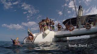 Cayo Santa Maria, Cuba, catamaran tour, snorkeling 2017 HD