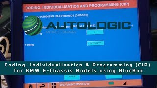 How to Program, Individualisation & Code (CIP) BMW E Chassis Vehicle using Autologic BlueBox