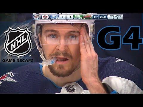 Winnipeg Jets vs Minnesota Wild. 2018 NHL Playoffs. Round 1. Game 4. April 17th, 2018. (HD)