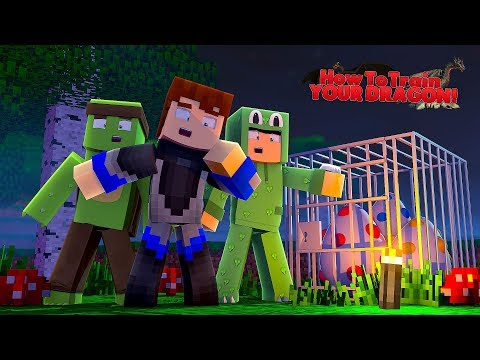 WE FOUND A NEW RARE DRAGON BUT IT'S IN BIG DANGER - Minecraft HOW TO TRAIN YOUR DRAGON