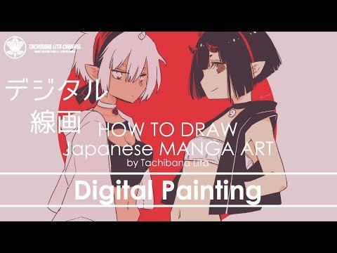 ✔ Digital Painting – Step : Draft – Inking | How to draw Manga Art 2018.05.15