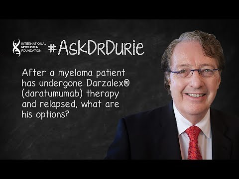 Options for myeloma patients who had undergone Darzalex (daratumumab) therapy and relapsed