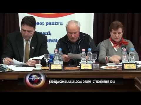 SEDINTA CONSILIULUI LOCAL DELENI - 27 NOIEMBRIE 2018