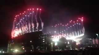 Fireworks at Gillette Stadium (Patriots vs. Colts Playoffs 2014)