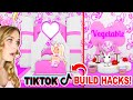 Building Along with *TIKTOK HACKS* In Adopt Me! (Roblox)