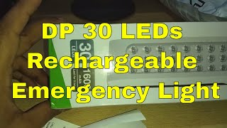 DP 30 LEDs Rechargeable Emergency Light Unboxing Review