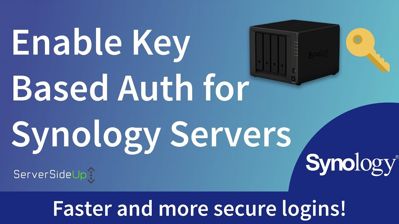 Enable Key Based SSH Authentication For Synology Servers