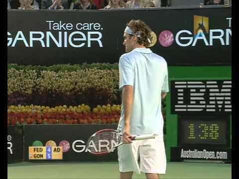 Gonzalez v Federer: 2007 Australian Open Men's Final Highlights