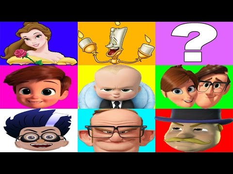 Boss Baby vs Beauty and the Beast vs Trolls Movie Game Part