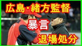 広島・緒方監督が暴言で退場処分…選手、コーチの本音は? 山路哲生 検索動画 30