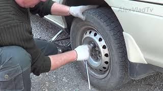 Регулировка ручного тормоза Toyota Carina.