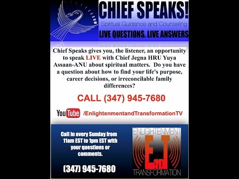 Learn to Listen and Follow - 11-1-15 Chief Speaks