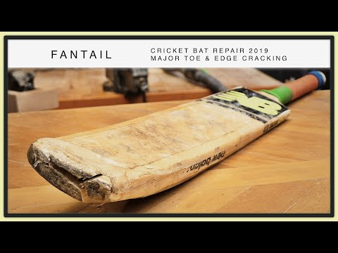 Repairing The Toe & Edge Of A Cricket Bat