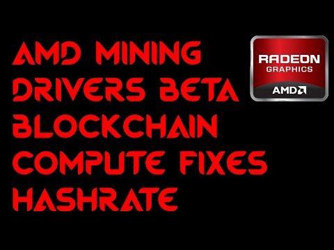 AMD Mining Drivers Fixes Ethereum Hashrate Dag Issue Crimson ReLive Beta Blockchain
