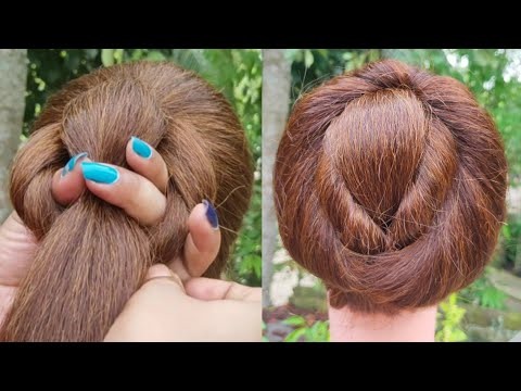 Very Easy And Simple Bun Hairstyle | Everyday Girls Hairstyle | New Juda Hairstyle | Hair | thumbnail