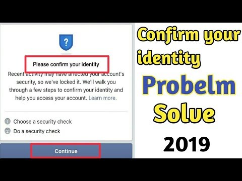 Confirm Your Identity Facebook Problem Solve 2019 | Technical Tricks Aadi