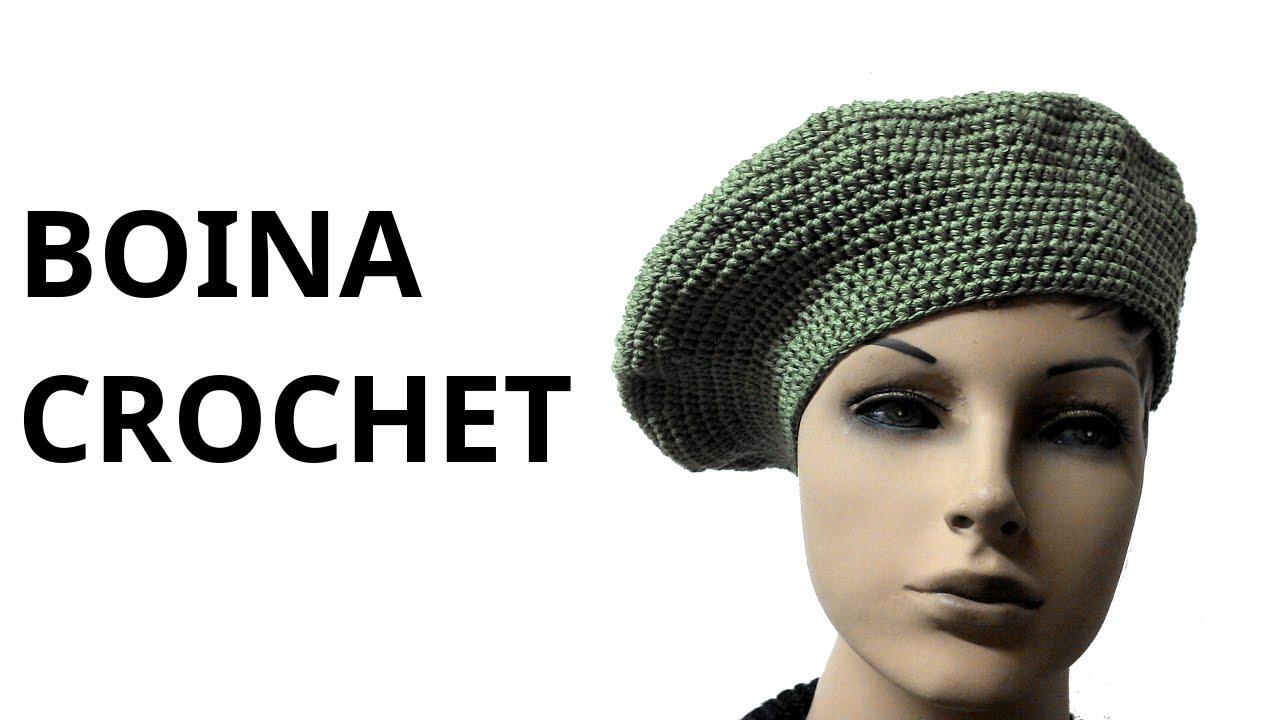 BOINA Clásica para mujer en tejido #crochet o ganchillo tutorial ...