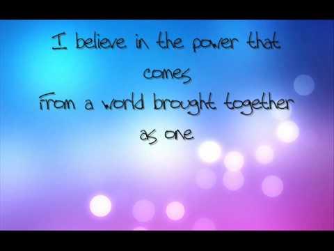 I Believe ~ Nikki Yanofsky lyrics
