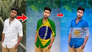 How to Put Flag images on Shirts in Picsart Heavy Editing like Photoshop
