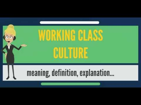 What is WORKING CLASS CULTURE? What does WORKING CLASS CULTURE mean? WORKING CLASS CULTURE meaning