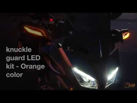YAMAHA FJ-09, MT-09 TRACER Knuckle guard  LED Kit